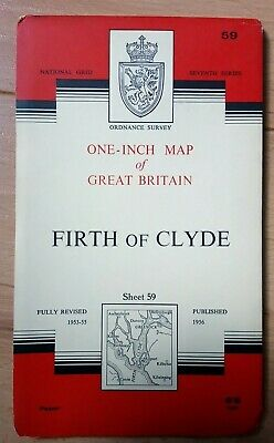1960 - OS, Ordnance Survey Map Sheet 59, Firth of Clyde