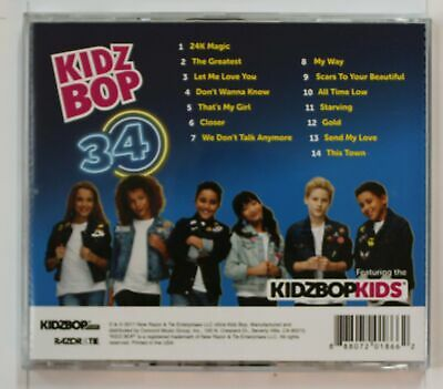 Kidz Bop Kids Kidz Bop 34 US CD (Biggest Hits By Kids For Kids) 2017
