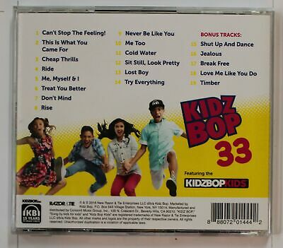 Kidz Bop 33 (Biggest Hits By Kids For Kids) US CD (5 Bonus Tracks)2016