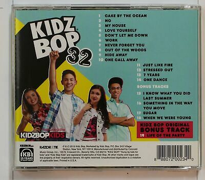 Kidz Bop 32 (Biggest Hits Sung By Kids For Kids) US CD (5 Bonus Tracks Incl)2016