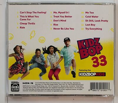 Kidz Bop Kids Kidz Bop 33 (Biggest Hits Sung by Kids For Kids) US CD 2016