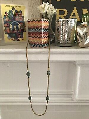 Vintage Miriam Haskell Signed Gold Brass Mesh Scarab Egyptian Beaded Necklace