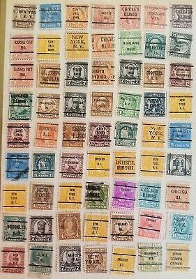 (378)  UNITED STATES POSTAGE STAMPS   pre-cancels