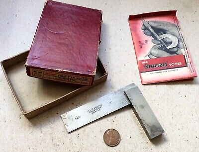 """3"""" Starrett No.20 Machinists Try Square With Box"""