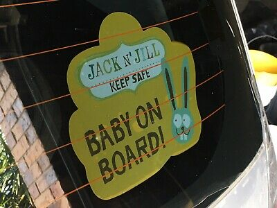 Baby On Board sign - removable, repositionable, vinyl sticker