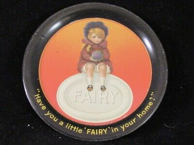 """Antique Tip Tray Advertising Fairy Soap """"Have You A Little Fairy In Your Home?"""""""