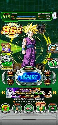 Compte dokkan battle global Android farmed 2 LR New Gohan/Cell 3300ds +