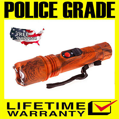 Police Stun Gun SF-786-89 BV Max Power Rechargeable with Ultra Bright Flashlight