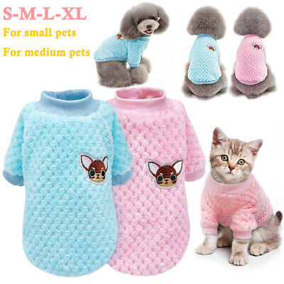 Pet Cat Dog Knitted Sweater Jumper Puppy Warm Winter Coat Jacket Clothes Apparel