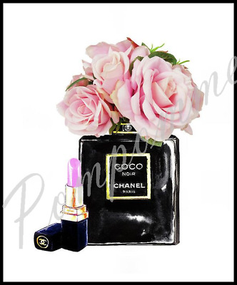 Coco Chanel Perfume Art Print Picture Poster Wall Home Decor BedroomXmas Gift A4