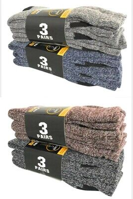 12 PAIRS Mens Heavy Duty Winter Warm Thermal Work Boot Socks Size 9-13