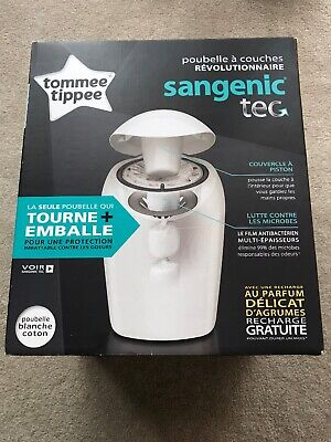 Tommee 84011101 Tippee Sangenic Tec Nappy Disposal Bin with 1 Cassette