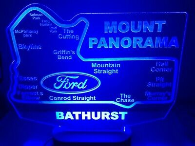 Bathurst Mount Panorama Ford LED race track light map 250mm x 285mm supercars