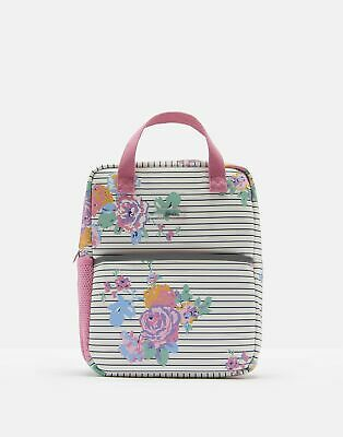 Joules Girls Adventure Rubber Backpack in CREAM NAVY FLORAL in One Size
