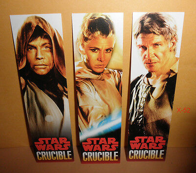 STAR WARS CRUDIBLE novel book promo BOOKMARK set LUKE skywalker han solo LEIA