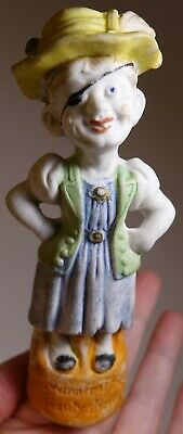 Vintage Antique Comic Bisque Figurine Ugly Lady Winner of the Beauty Show Gmny?