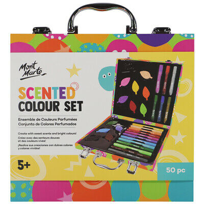 Mont Marte Kids - 50pc Scented Colouring and Paint Art Set