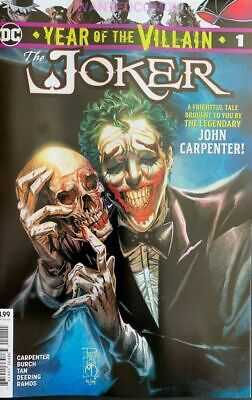 Joker Year Of The Villain #1 Oct 2019 John Carpenter Batman Comic Book Halloween