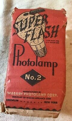 NOS Super Flash Photolamp No 2 By Wabash. 2 Pack