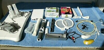 Nintendo Wii RVL-001 Console RVL-021 Balance Board +7 Games Fitness DVDs Bundle+