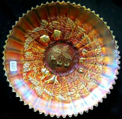 Pretty Northwood Marigold Carnival Glass Three Fruits Plate