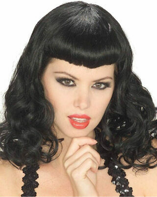 Pin Up Black Wig One Size