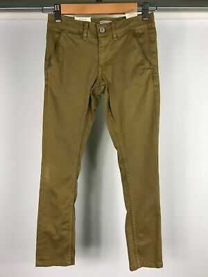 NEW PEPE JEANS boys size 8 'Blueburn Taper'  brown skinny leg jeans