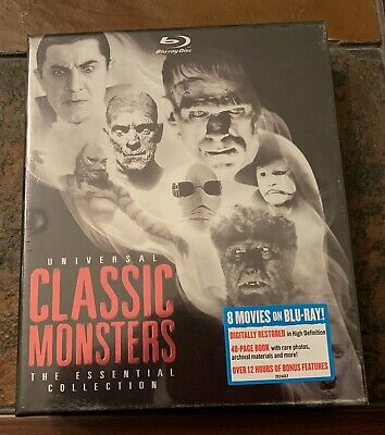 Universal Classic Monsters: The Essential Collection (Blu-ray)New Sealed