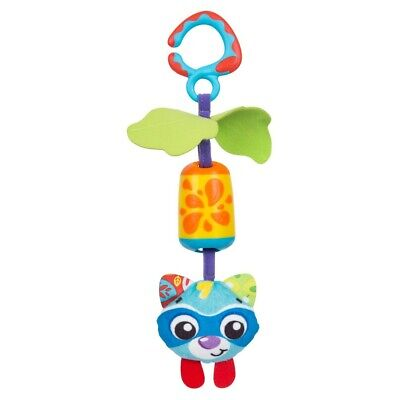 New Cheeky Chime Racoon Playgro Infant Kids Baby Safe Toddler Toy Fun