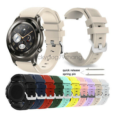 Rugged Silicone Wrist Watch Band Strap For Huawei Watch 2 Pro Classic Wristband