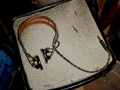 Antique Headphones Murdock Us Army Sc-69A High Impedance Working