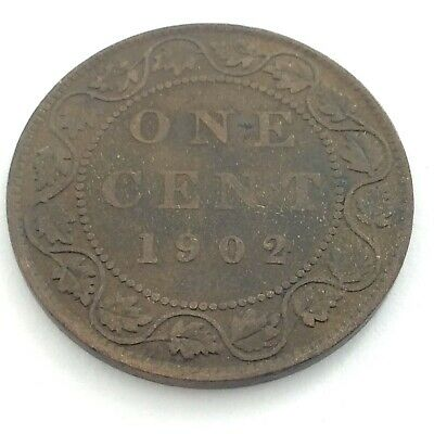 1902 Canada One 1 Cent Large Penny Canadian Circulated Edward VII Coin L475