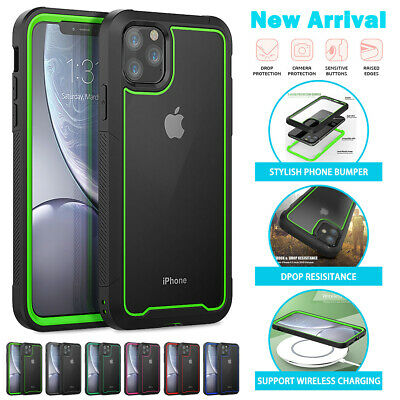 For iPhone 11 Pro Max Heavy Duty Shockproof Clear Case Hybrid Transparent Cover