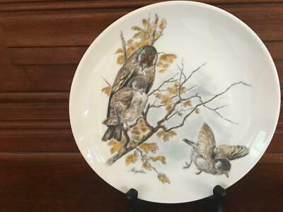Reduced: Kaiser Plate With Mother Bird Teaching Babies To Fly,Estate Liquidation