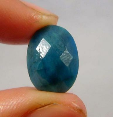 Dyed Faceted Blue Sapphire Cut Loose Gemstones 6ct 13X9 mm W472