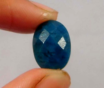 Dyed Faceted Blue Sapphire Cut Loose Gemstones 5.5ct 13X8 mm W474
