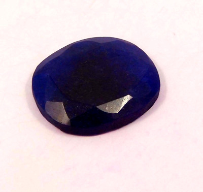 Dyed Faceted Blue Sapphire Cut Loose Gemstones  27CT 24X22mm RM13055