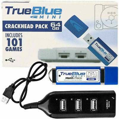128G- MINI True Blue Mini Crackhead Pack For Playstation Built-in Classic Games