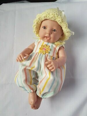 Handmade dolls clothes (Summer overalls, hat), to fit 24cm (9.5-10 inch) doll