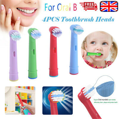 4Pcs Children Kids Electric Toothbrush Heads Oral B Compatible Replacement Brush