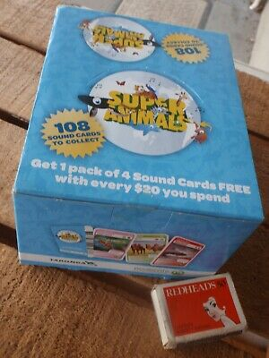 Woolworths cards ' Sounds & Animals   Full Box  of Cards