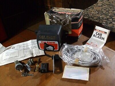 VINTAGE SELMAR CAR ALARM UNUSED IN ITS ORIGINAL BOX with P/INVOICE & INSTRUCTION