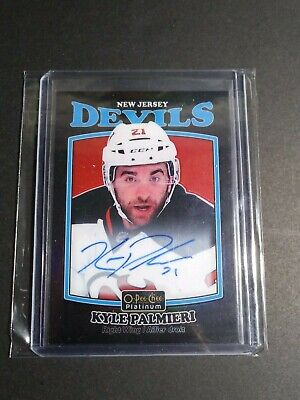 2016-17 O-Pee-Chee Platinum Retro Black Rainbow Auto Kyle Palmieri Group D