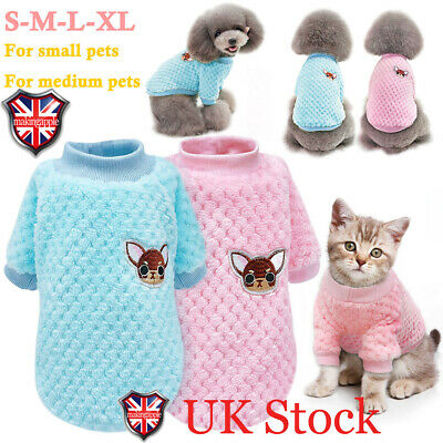 Pet Puppy Clothes Knitted Jumper Sweater For Yorkie Chihuahua Small Dogs Cats UK
