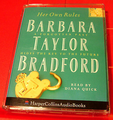 Barbara Taylor Bradford Her Own Rules 2-Tape Audio Book Diana Quick