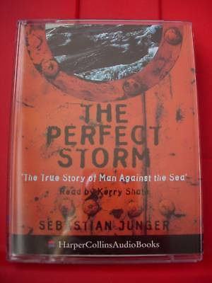 Sebastian Junger The Perfect Storm 2-Tape Audio Hurricane/Weather Kerry Shale