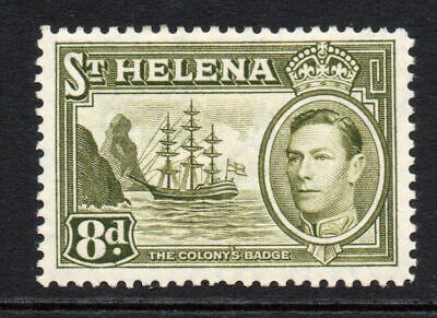 St Helena 8d Stamp c1938-44 Mounted Mint (88)