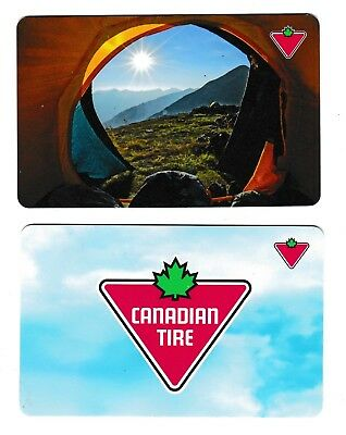 2 Collectible CANADIAN TIRE CanTire gift cards Canada #01
