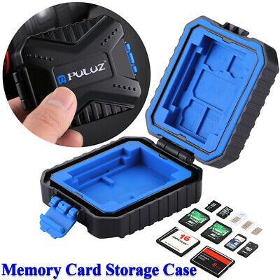 PULUZ Portable Waterproof Memory Card SD Micro TF SIM Cards Storage Case Holder