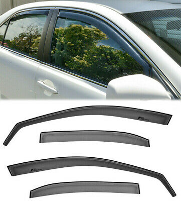 For 11-Up Scion TC Smoke Tint Side Window Visors Gen 2 JDM In-Channel Rain Guard